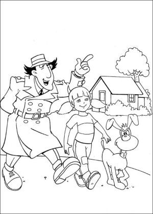 Inspector Gadget Coloring Page 14 Coloring Books Inspector