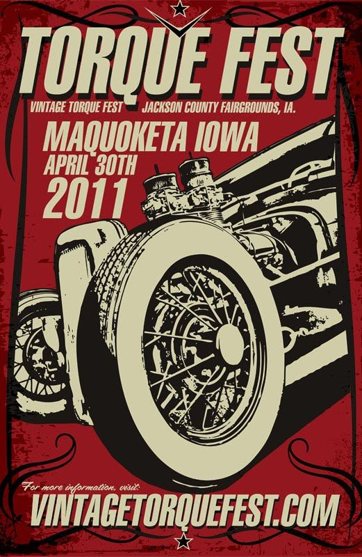 Monterey Car Show Poster Vintage