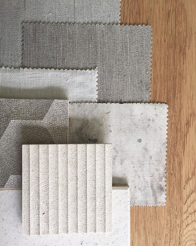 soft furnishing moodboard or banquette seating selection    neutral materials