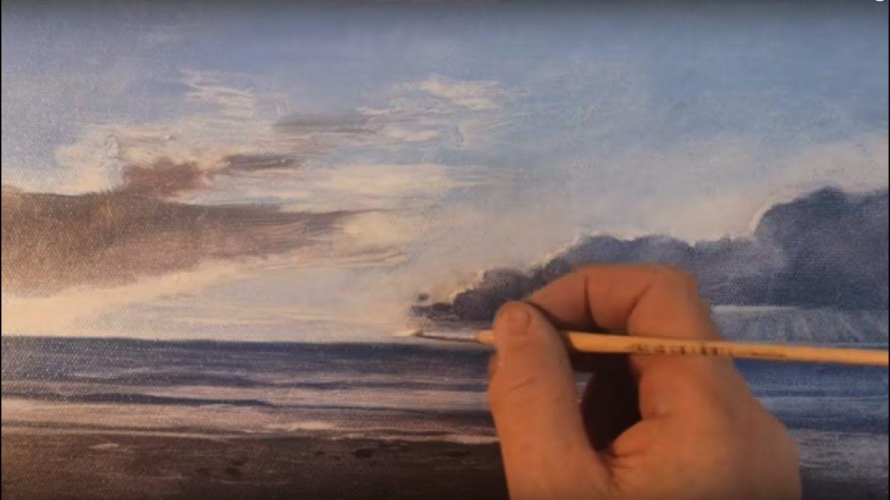 Technique A L Essuyage A L Huile Comment Faire Un Ciel Et L Ocean
