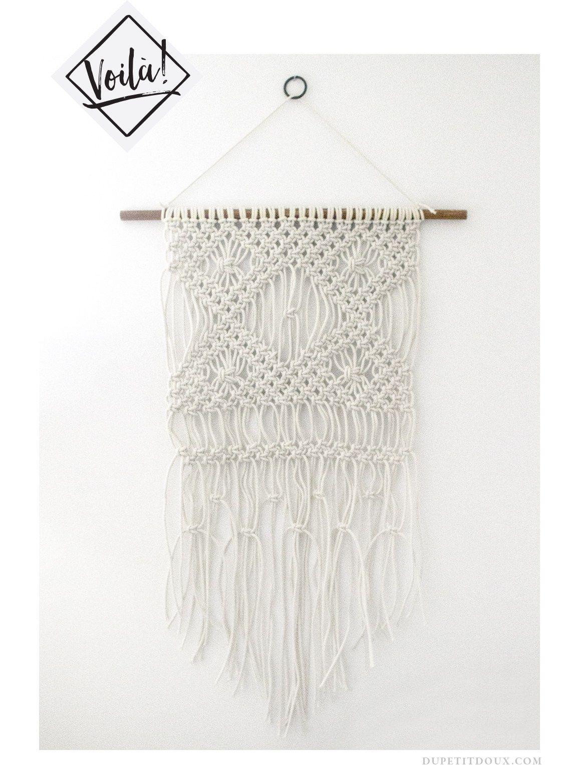 macrame wall hanging tutorial diy knots dupetitdoux. Black Bedroom Furniture Sets. Home Design Ideas