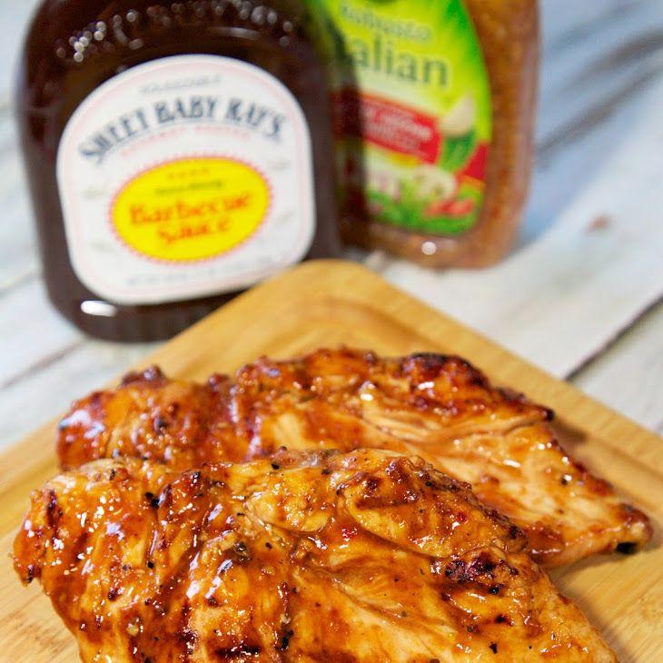3 Ingredient Chicken Dinners: Three Ingredient Italian BBQ Chicken In 2019