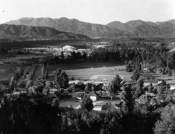 Brookside Park Baseball Stadium Pasadena Ca Spring Training Site For The Cubs 1917 21 And T Vintage California San Luis Obispo County San Gabriel Mountains