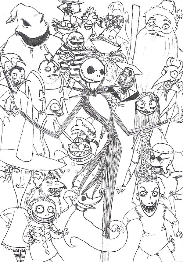 Extraordinary Nightmare Before Christmas Coloring Page Best