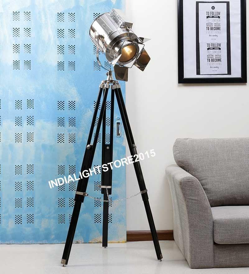 Marine Floor Lamp Searchlight Designer Tripod Spot Light Nautical