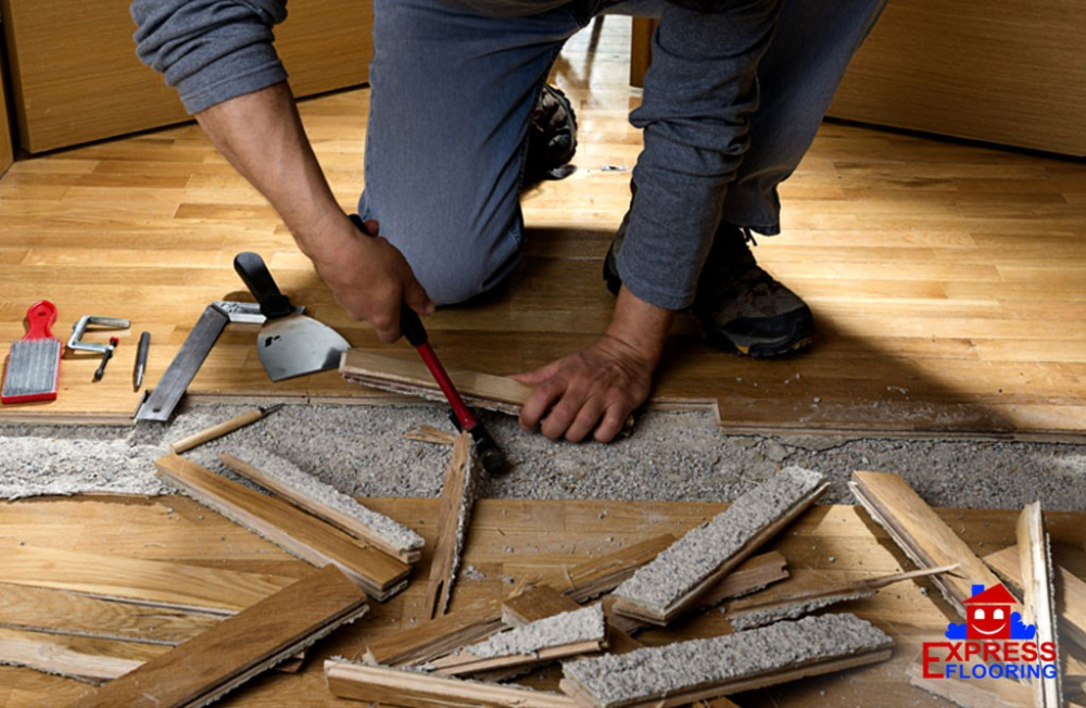 A quick & easy way to repair buckled hardwood flooring