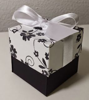 ArtandChoco: Lidded Box with Permanent Ribbon