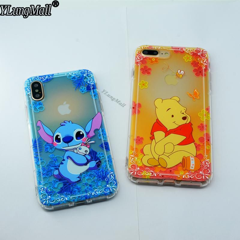 YLungMall Stitch Winnie Pooh Bear Phone Case for iPhone X Soft TPU Back  Cover Fundas for iPhone 7 8 6 6s Plus Coque Mickey. Yesterday s price  US   2.69 ... a271d0a6bafd