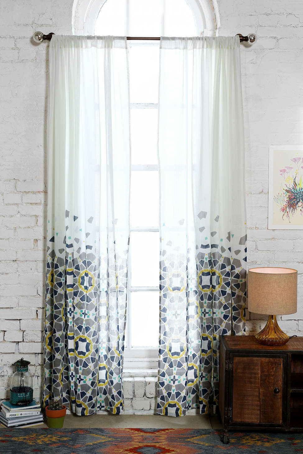 Moroccan tile pattern curtains - Magical Thinking Moroccan Tile Curtain Urban Outfitters