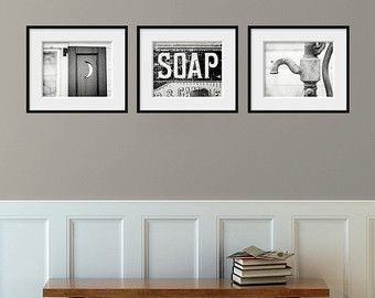 Attrayant Bathroom Decor Set Of 3 Photographs, Bathroom Decor Prints, Rustic Bathroom  Decor, Vintage Shabby Chic Bathroom Art, Bath Wall Decor Set.