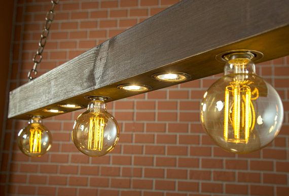 Rustieke verlichting teruggewonnen hout licht licht   Ideeën voor ...