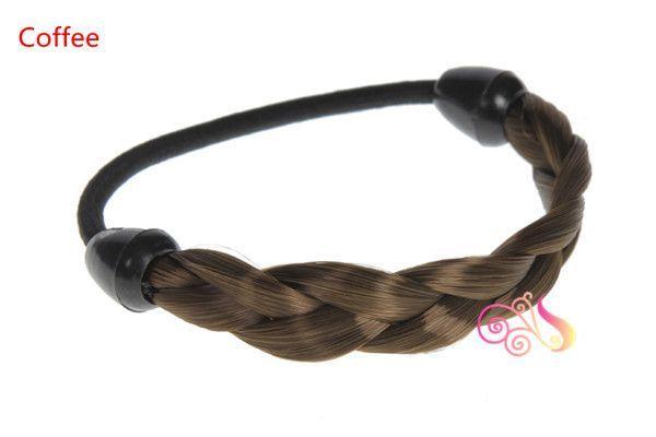 1pc Hair Ring Hair Rope Elastic Braided Tonytail Wrap