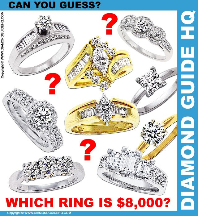 Interesting Post What Does An 8 000 Diamond Ring Look Like Diamond Love And Marriage Rings