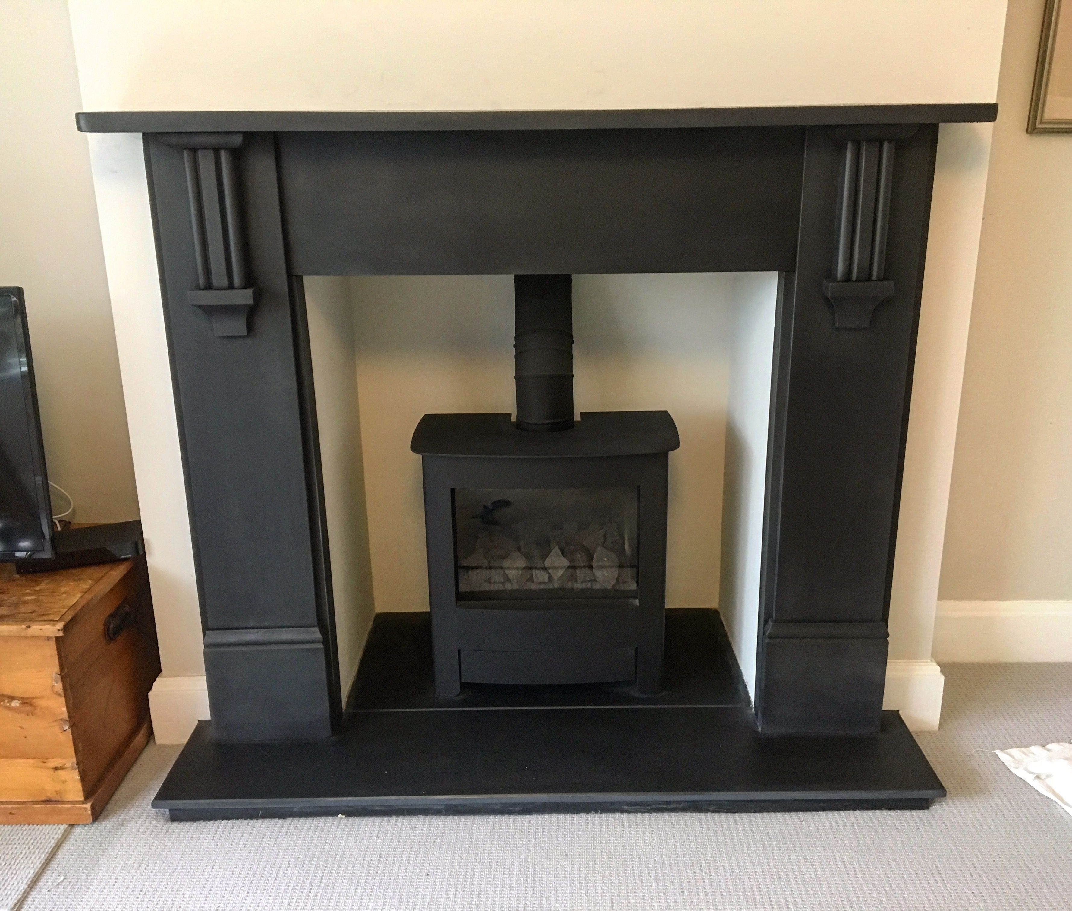 Brilliant 100 Year Old Slate Fireplace Surround Now Fully Restored Home Remodeling Inspirations Cosmcuboardxyz
