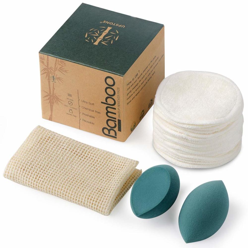 16 Bamboo Organic Reusable Makeup Remover Pads Washable