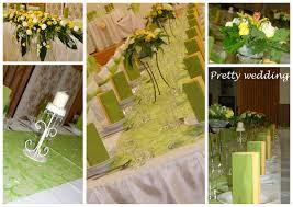 Výsledek obrázku pro svadobna výzdoba zeleno žltá