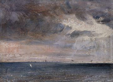 'A Storm off the Coast, Brighton' by John Constable 1824