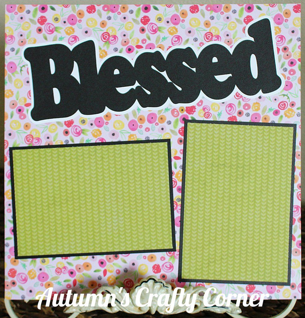 Blessed Basic Premade Scrapbook Page 12x12 Layout For Album