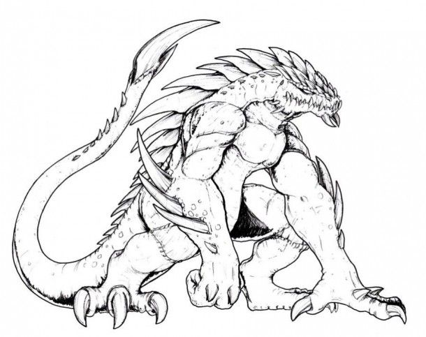 evil monsters coloring pages - photo#36