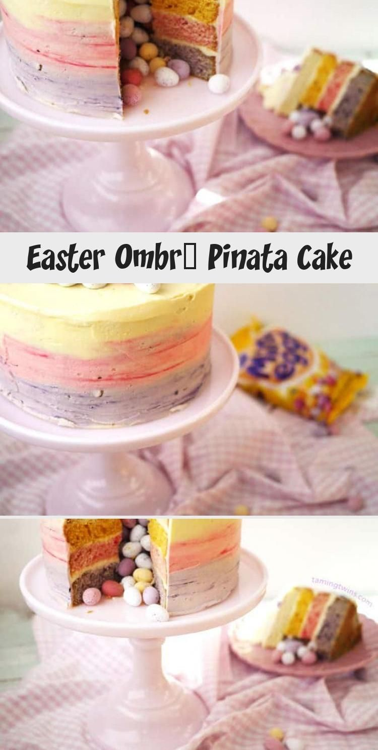 Photo of Mini Egg Ombre Pinata Layer Cake #PinataKuchenRegenbogen #PinataKuchenSchoko #Pi…