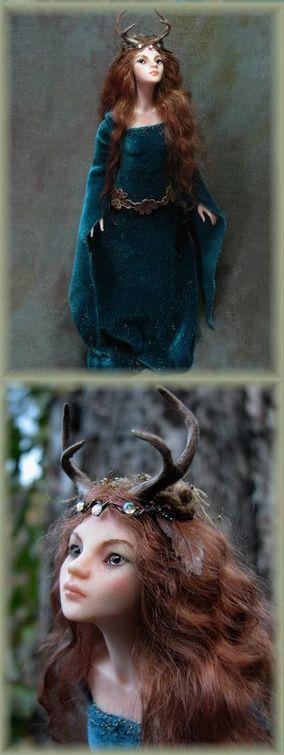 Lady Deer doll - art sculpt fantasy doll