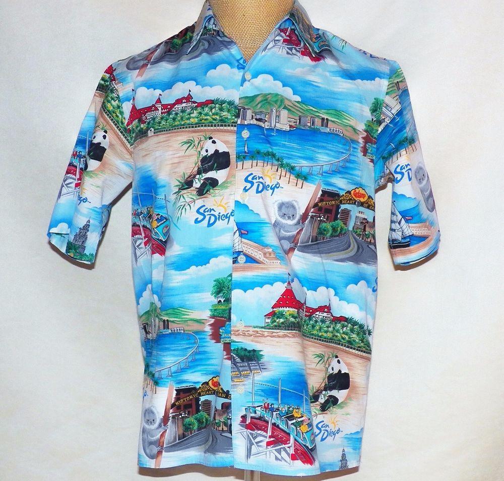 8653fe396 Reyn Spooner San Diego Zoo Balboa Park Coronado Aloha Hawaii Hawaiian Shirt  S #ReynSpooner #Hawaiian