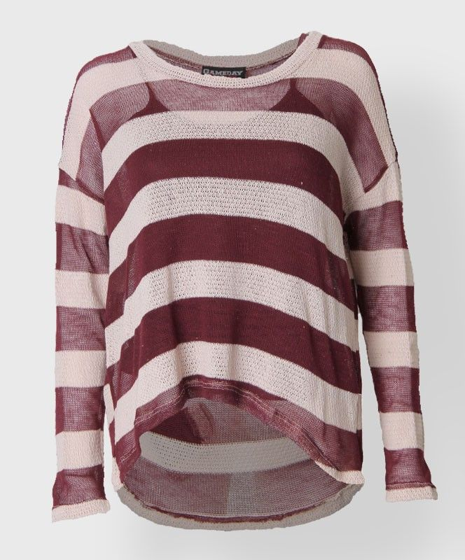Maroon and white striped sweater. #AggieGifts #AggieStyle | Ladies ...