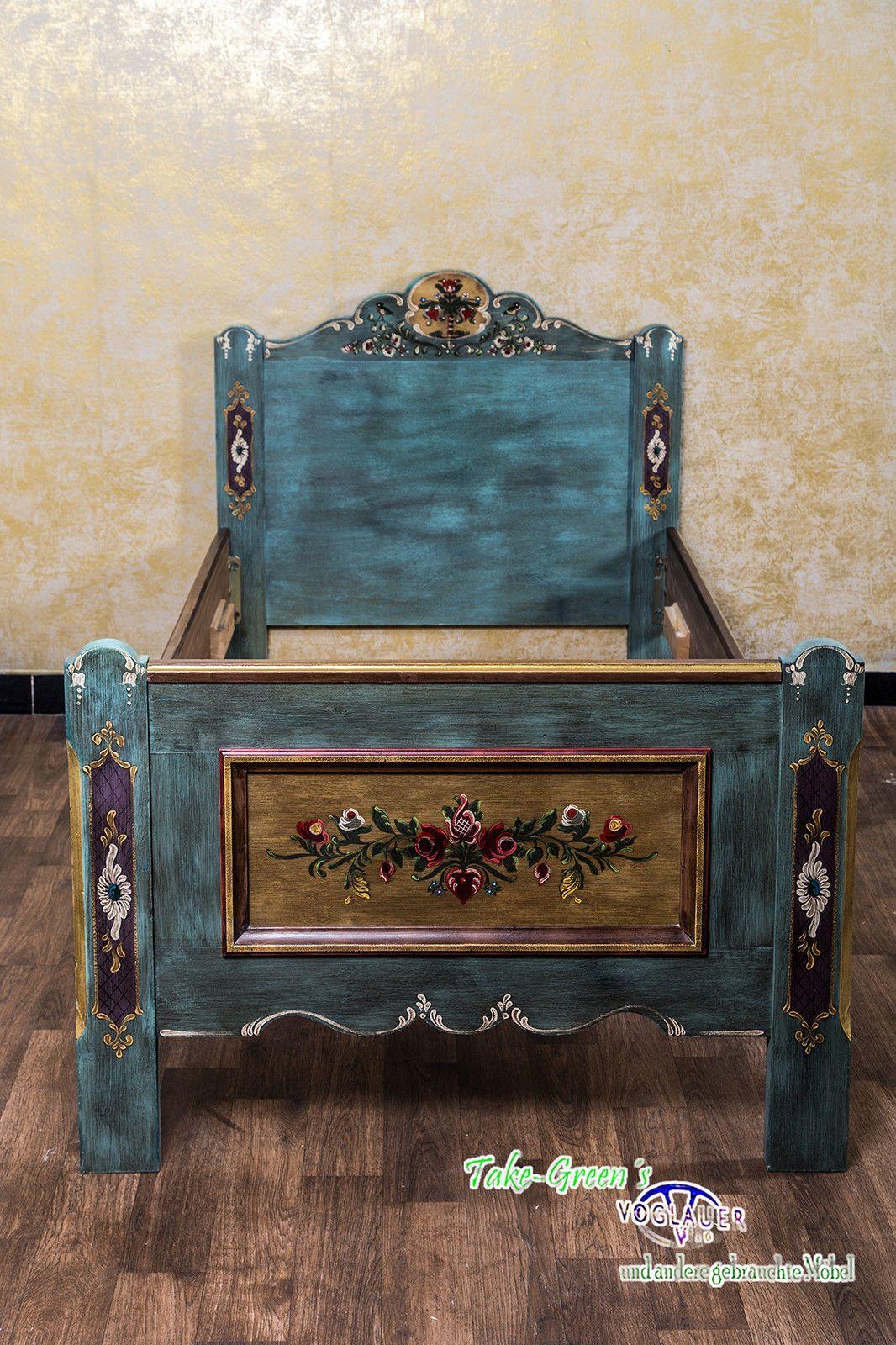 Voglauer anno 1800 einzelbett 100x200 1x2 bett schlafzimmer kinderbett landhaus ebay furniture - Badezimmermobel ebay ...