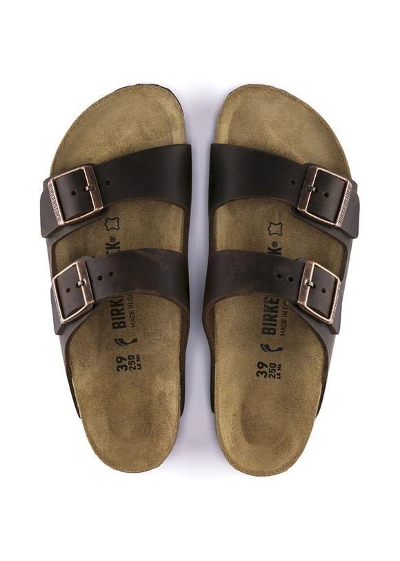 b3ad58e90df Birkenstock Sandal mørkebrun 52533 Arizona Oiled Leather Habana - smal