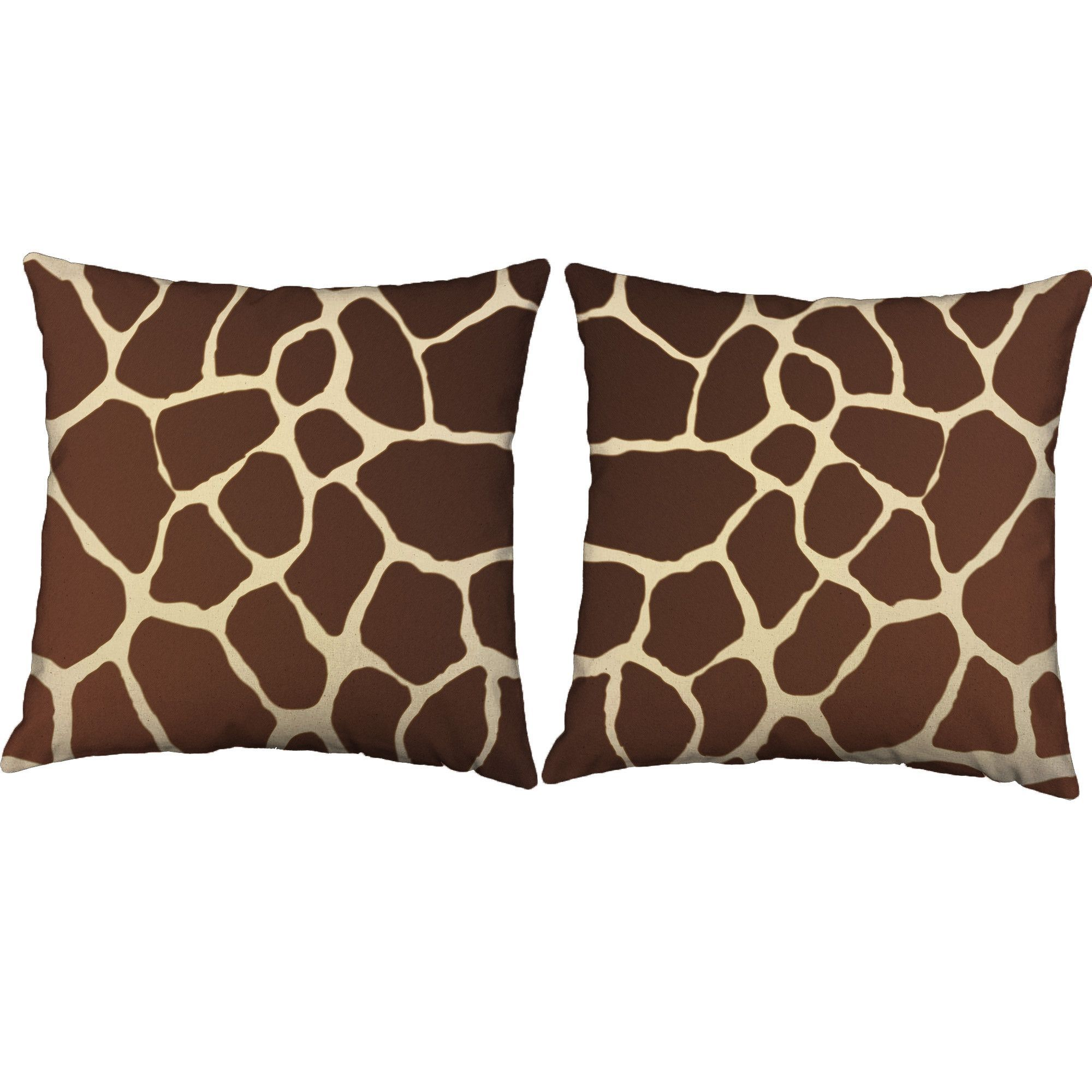 Giraffe Print Throw Pillows - Set of 19 | Around the house ...