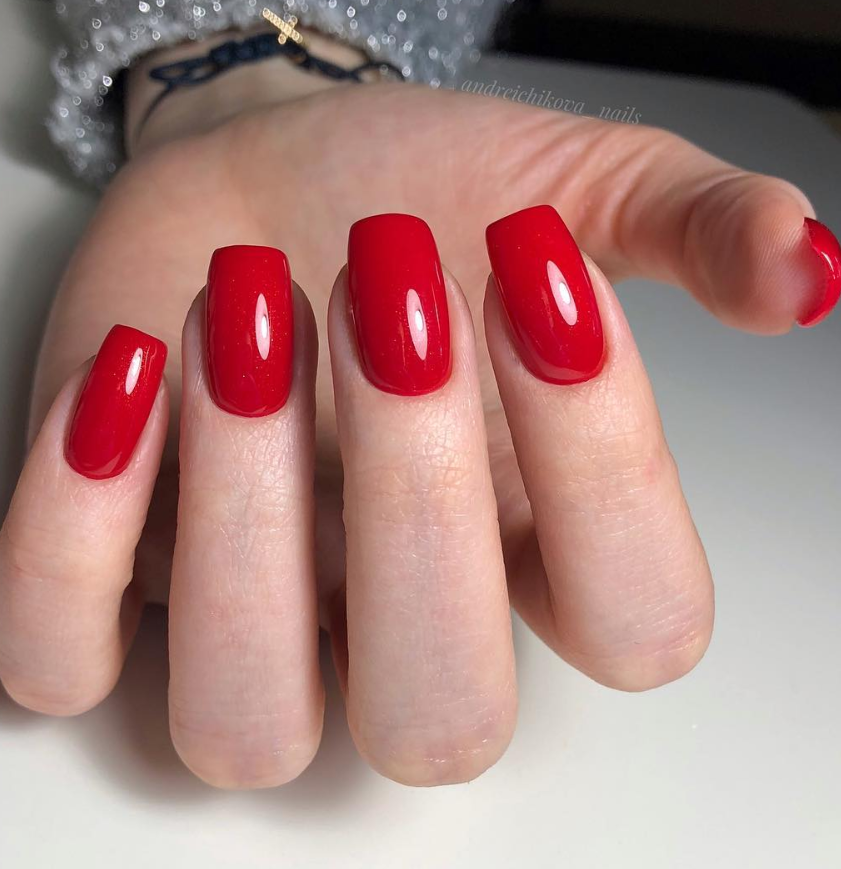 45 Hottest Acrylic Short Coffin Nails Color Shapes Design For All Fashion Ladies Page 12 Of 45 Latest Fashion Trends For Woman In 2020 Short Red Nails Short Square Nails Short Coffin Nails