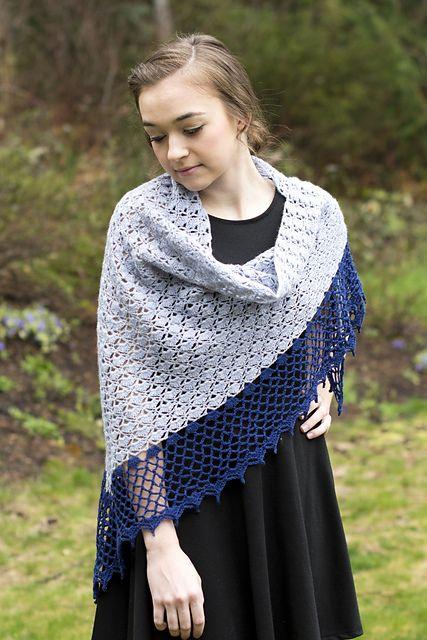 Crochet Patterns Galore - Pomelo Shawl (free crochet pattern)