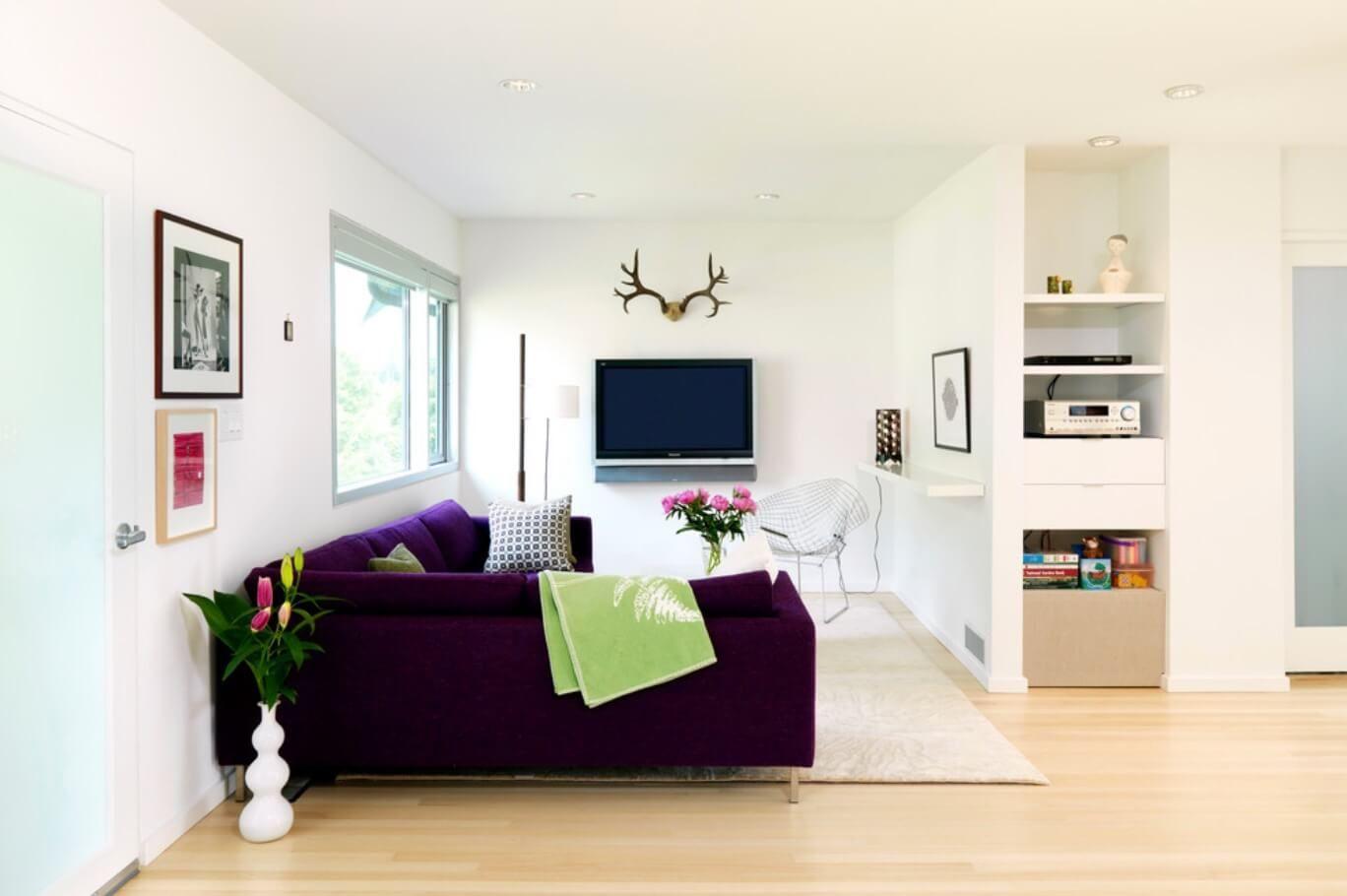 Innenarchitektur für wohnzimmer für kleines haus  ideen wie sie ihren kleinen raum optimal nutzen können