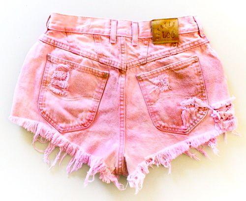 Pink cut offs, cute!