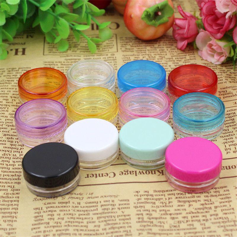 10pcs/lot 3g Mix Color Small Empty Cosmetic Refillable