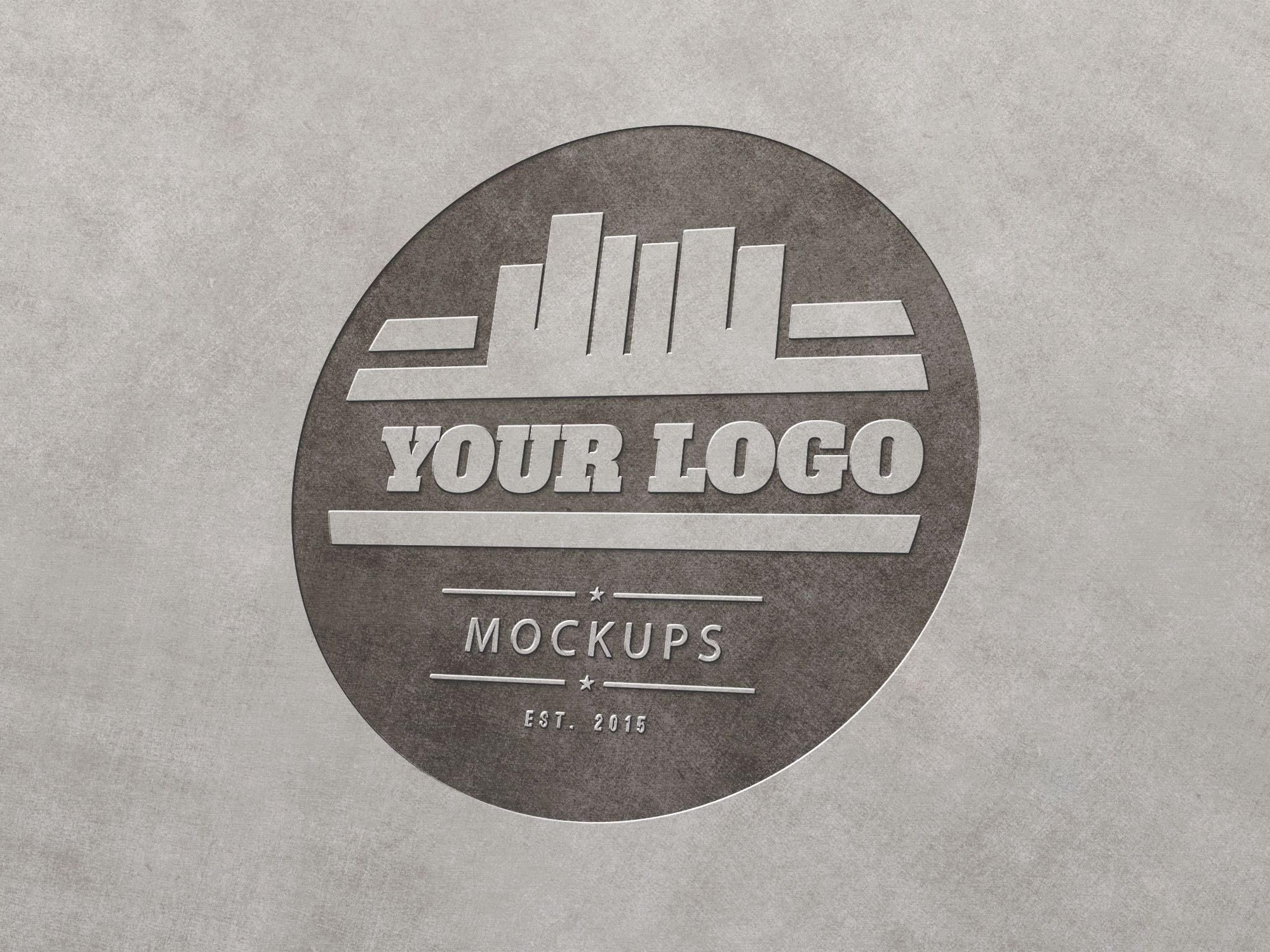 Use this metal engraved logo mockup to present your logo