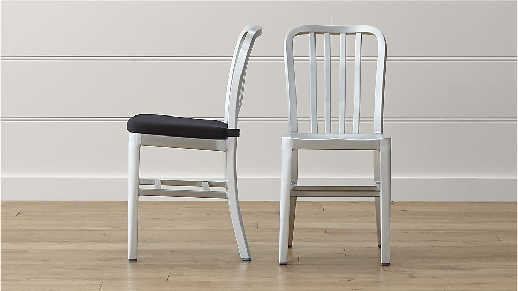Delta Metal Dining Chair And Cushion Crate And Barrel I Like