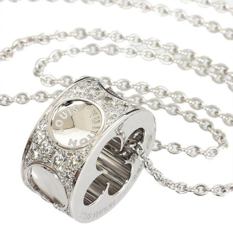 Louis Vuitton 18K White Gold Diamond Empreinte Necklace With Box Cert. JoiasColar  De Corrente De Ouro BrancoColares ... 1b86c4bba3