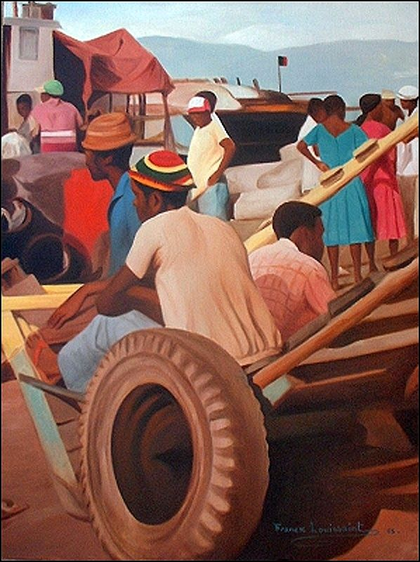 Haitian Art - Resting by Franck Louissaint