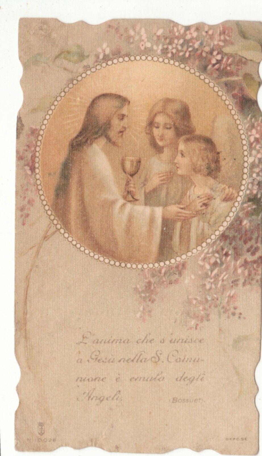 Santino 131  Ricordo Prima Comunione Del 1918