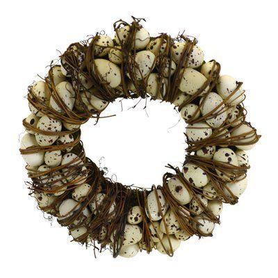 "SheasWildflowers Natural Egg Wreath Size: 12"" H x 12"" W x 3"" D"