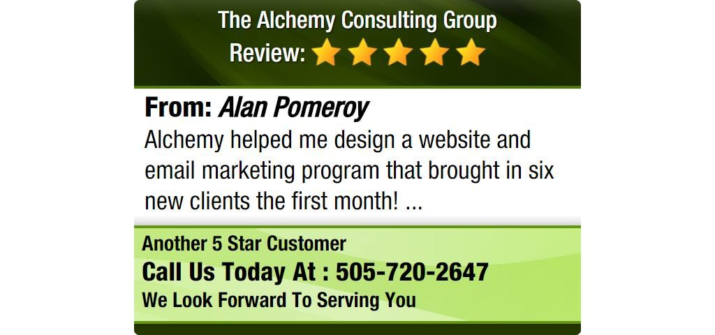 Alchemy Helped Me Design A Website And Email Marketing Program