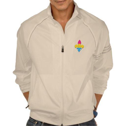 Pansexuality pride fleur-de-lis Sweatshirt Printed Jackets