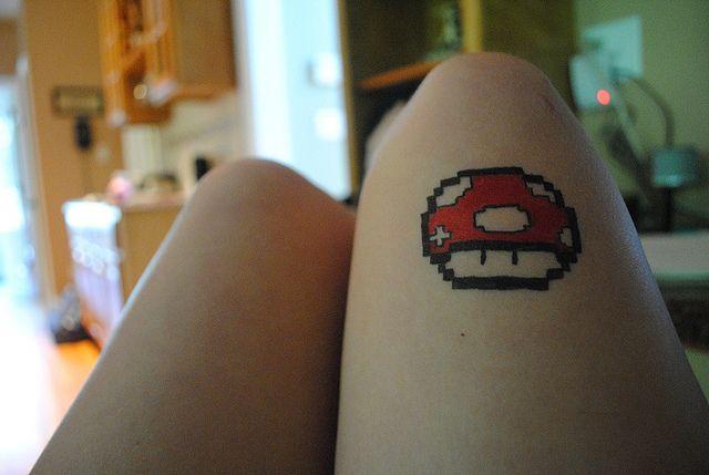 Pixel Mushroom Tattoo Tattoos Pixel Tattoo Mushroom Tattoos