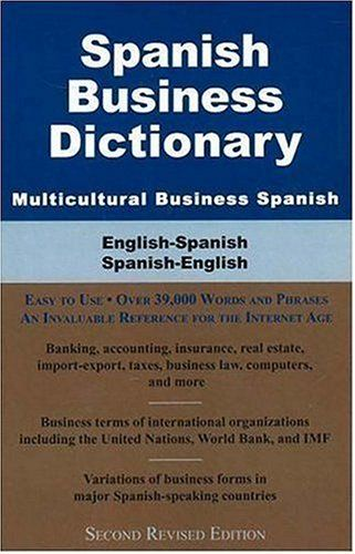 Spanish Business Dictionary Multicultural Business Spanish With Images Foreign Language Learning Business Dictionary