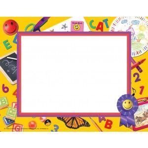 Preschool kindergarten border paper va662 pack of 50 - Design your own home application ...