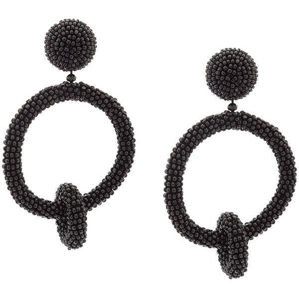 beaded double-hoop earrings - Metallic Oscar De La Renta DYa9GP