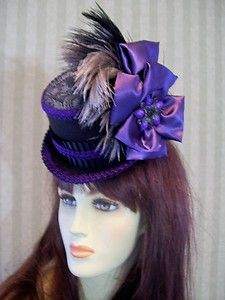 55dc2d1ba4549 Mini Top Hat~Steampunk Hat~Victorian Hat~Wedding Hat~Mini Riding Hat