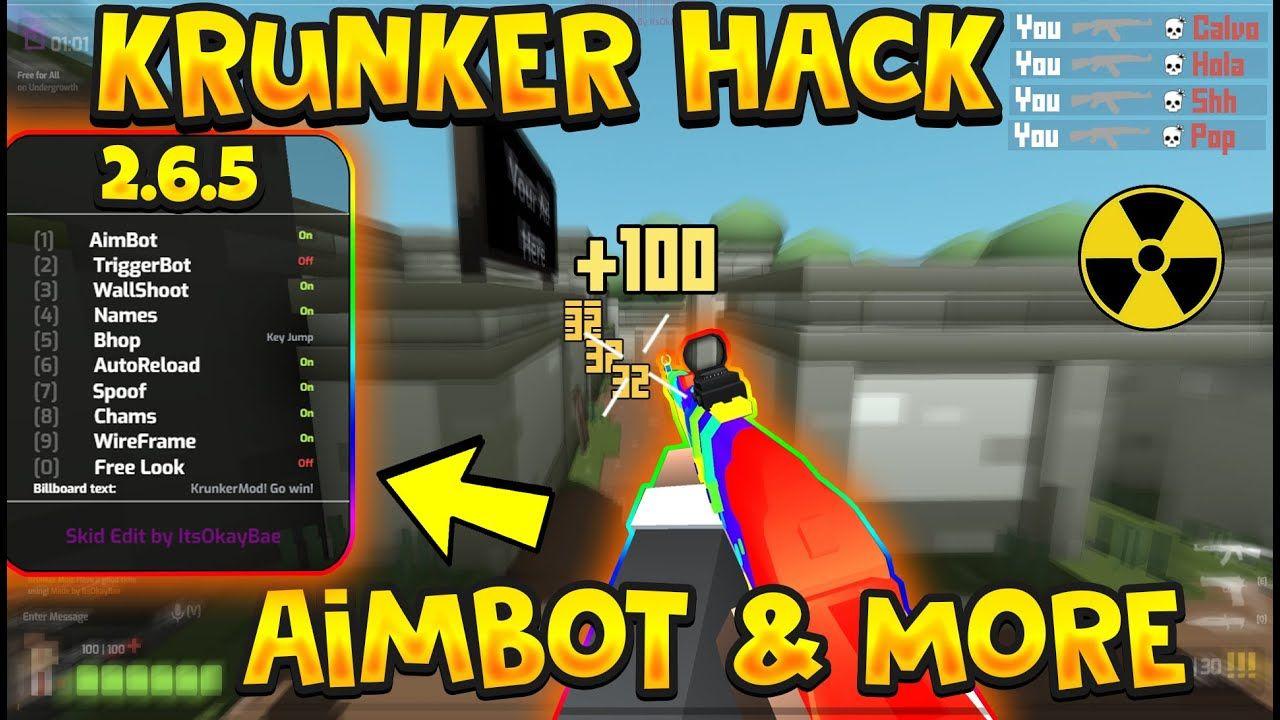 Krunker Io Mod Menu Hack 2 6 5 Aimbot Skins Changer Skins Hack No Recoil Skin Changer Box Hacks Hacks