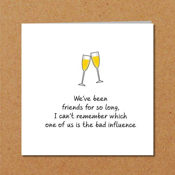 BEST FRIENDS Friendship Birthday Card For Male Girl Friend Bff Birthdaycard Besties